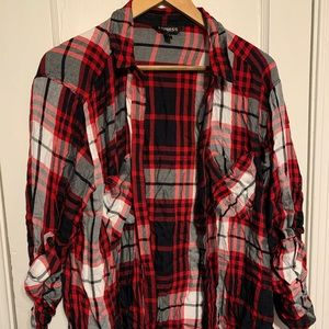 Red and black express flannel